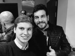 Con Mario Casas