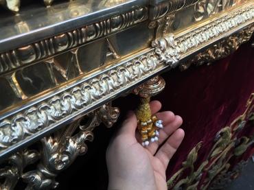 Machos de Pepe Luis Vázquez en el paso de la Virgen del Refugio